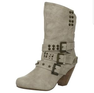 《Not Rated》 Embellished Buckle Boots